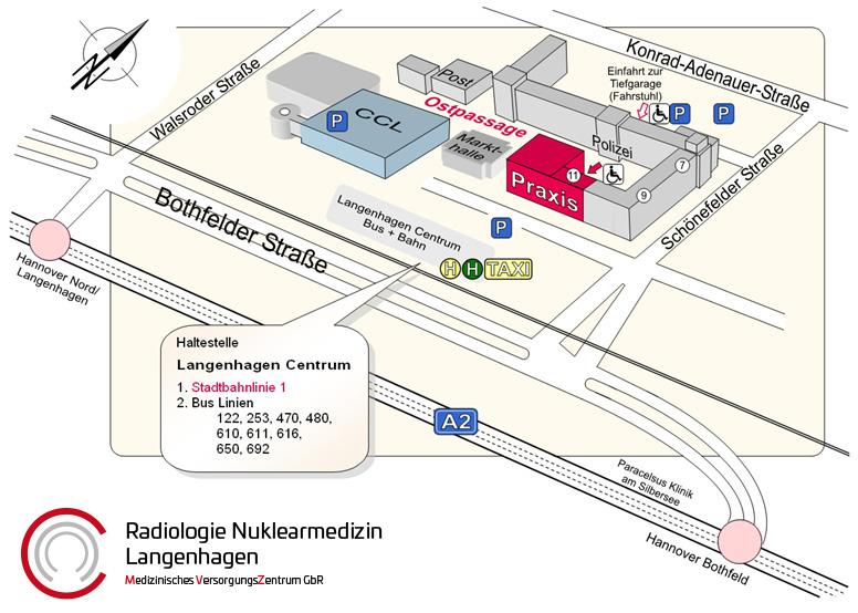 Hannover, Radiologie Nuklearmedizin, Plan Langenhagen