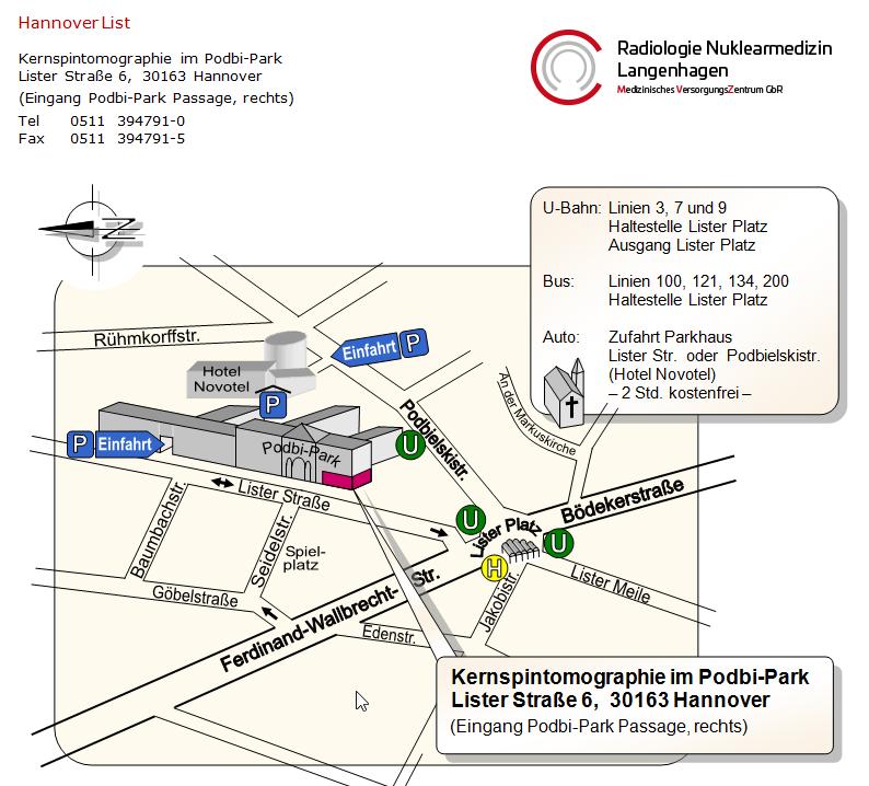 Hannover, Radiologie Nuklearmedizin, Plan List