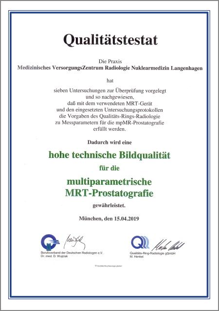 Hannover, Radiologie Nuklearmedizin, Qualität, Testat